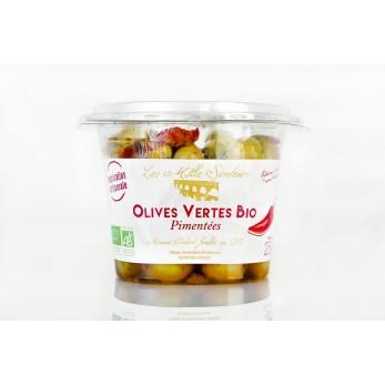 Olives Vertes BIO Pimentées