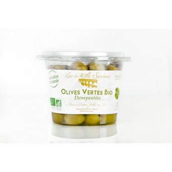 Olive Vertes BIO Dénoyautées